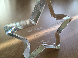 A York hospital volunteer of the year award
